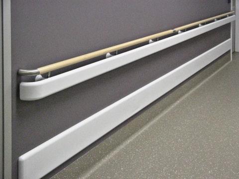 Liverpool Hospital - Closeup of Hand Rails and Wall Guard